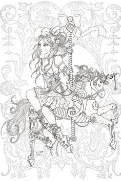 Google Image Result for http://www.deviantart.com/download/152549836/Steampunk_Carousel_Lineart_by_karla_chan.jpg