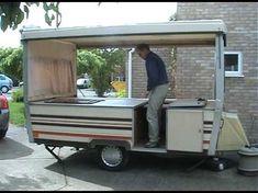 Folding caravan (not trailer tent) Pop Up Camper Trailer, Small Camper Trailers, Trailer Diy, Tent Campers, Popup Camper, Trailer Remodel, Gypsy Trailer, Small Campers, Mini Camper