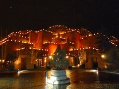 Santa Fe NM Christmas is a beautiful time of year with the farolitos (candles in paper bags with sand) everywhere