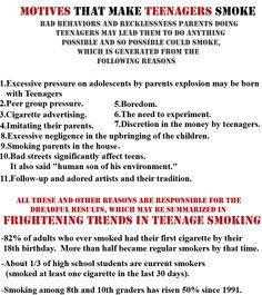 stop smoking out knowing it smoking smoking teenage smoking