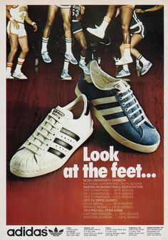 """adidas Superstar / adidas Americana """"Look at the feet …"""" Vintage Sneakers, Retro Sneakers, Shoes Sneakers, Sneakers Adidas, Adidas Vintage, Mens Street Style Shoes, Shoes Style, Casual Shoes, Casual Outfits"""