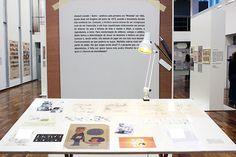 A mesa de trabalho do Quino. Aqui nasceu a Mafalda.
