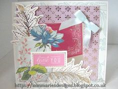 274.Cardmaking Project: Anna Griffin Charlotte Window Card - YouTube