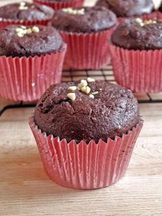 You are going to love these dark chocolate beetroot muffins because they are so moist and gooey inside and so chocolatey!