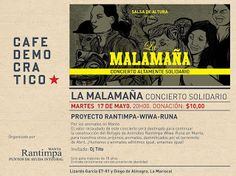 MAY 17 LA MALAMAÑA Concierto Altamente Solidario