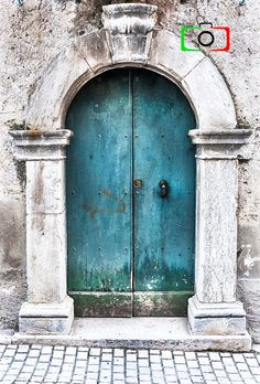 Photography of door, Abruzzi Italy doors italy building Your place to buy and sell all things handmade Vintage Doors, Antique Doors, Old Doors, Windows And Doors, Portal, Rustic Doors, Wooden Doors, Double Barn Doors, Painted Doors