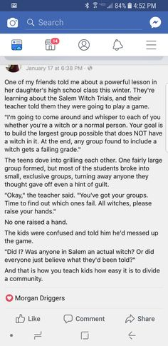 Salem Witch Trials simulation is part of Social studies - Alternative Energie, Faith In Humanity, Future Classroom, English, Writing Prompts, Social Studies, Good To Know, In This World, Feminism