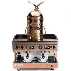 The Genuine Italian Astoria Dual Espresso Machine - Hammacher Schlemmer