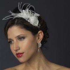 <3 Antique Rhinestone & Ivory Feather Bridal Headband <3 Grab this amazing piece for $29.05 only! #bride #bridetobe #wedding #weddingplanning #hairaccessories #headband