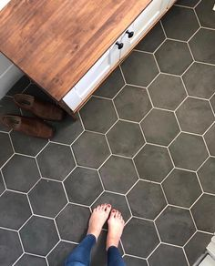Proof that everyone LOVES hex tile Coming in at 3 our Mud Room flooring shocking We renovated our Mud Room Laundry Room in Proof that everyone LOVES hex tile Coming in at 3 our Mud Room flooring shocking We renovated our Mud nbsp hellip Laundry Room Tile, Room Tiles, Bathroom Floor Tiles, Laundry Room Design, Entryway Tile Floor, Tile Basement Floor, Laundry Closet, Small Laundry, Downstairs Bathroom