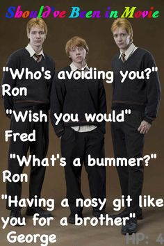 Harry Potter and the Goblet of Fire  Should've Been in Movie Fred  George Ron funny Ludo Bagman. FOLLOW HARRY POTTER 3!!
