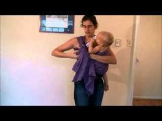 Half Front Wrap Cross Carry with tips for nursing discretely - YouTube