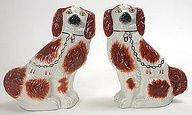 I bought my first set of Staffordshire King Charles Spaniels, at an estate sale in Denver.