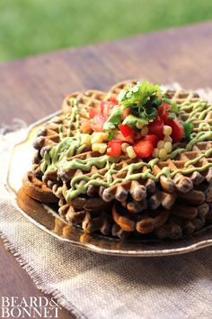 Savory Black Bean Flour Waffles {Beard and Bonnet} #gfree #glutenfree #waffles