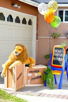 "I love the birthday boy's safari outfit! Photo 1 of Jungle, Safari, Animals / Birthday ""Noah's Birthday! Jungle Party Decorations, Jungle Theme Parties, Safari Theme Party, Safari Birthday Party, 2nd Birthday Parties, Birthday Fun, Birthday Ideas, Lion Birthday, Animal Birthday"
