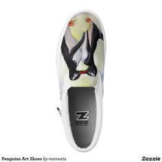 Penguins Art Shoes Printed Shoes