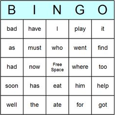 Küchengeräte Liste second grade sight words sight words 2nd grade bingo cards