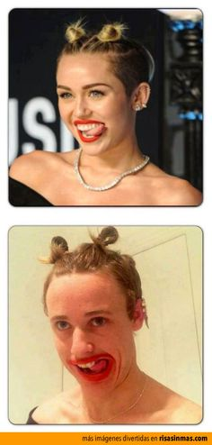 Parecidos razonables: Miley Cyrus.