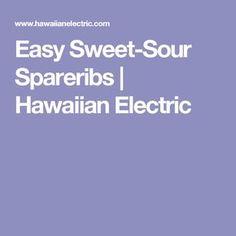 hawaiian food recipes Try this delicious recipe from the Electric Kitchen! Hawaiian Dishes, Hawaiian Recipes, Sweet And Sour Spareribs, Hawaiian Electric, Spareribs Recipe, Pork Recipes, Cooking Recipes, New Orleans Recipes, Spare Ribs
