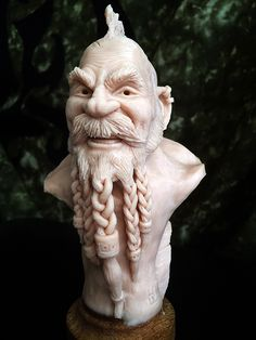Harald von Lünen #dwarf #SuperSculpey #PolymerClay #Creatures #Sculpting Guy Face, Male Face, Fantasy Male, Outdoor Sculpture, Sculpture Clay, Wood Carvings, Zbrush, Hobbies And Crafts, Bjd