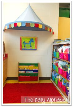 Circus Classroom Reveal! Circus Theme Classroom, Primary Classroom, Music Classroom, Future Classroom, Classroom Decor, Preschool Circus, Circus Activities, Book Of Circus, Teaching Special Education