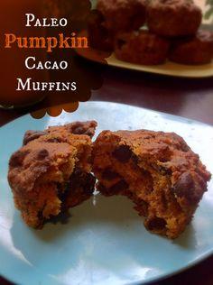 Paleo Pumpkin Cacao Muffins