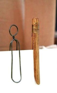 Pinzas para colgar la ropa. Vintage clothespins.