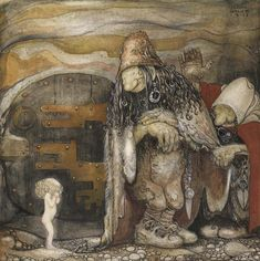 Art: Gnomes and Trolls of John Bauer: John Bauer (1882-1918) was a Swedish painter and book illustrator famous for his depiction of gnomes, trolls and other mythological beings of Scandinavian folklore. His best known work is Among Gnomes and Trolls