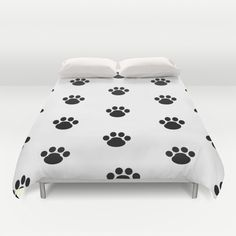 Puppy Dog Paw Prints Duvet Cover bedding decor #decampstudios
