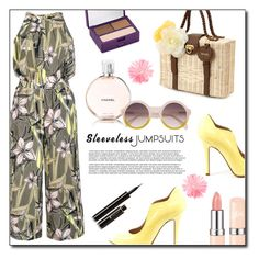 """""""Sleeveless jumpsuits"""" by dorinela-hamamci ❤ liked on Polyvore featuring Quiz, Chanel, Urban Decay, Lancôme, polyvoreeditorial, polyvorecontest and sleevelessjumpsuits"""