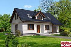 Zobacz powiększenie wizualizacji frontowej - projekt Bergen IV One Story Homes, Bergen, My Dream Home, Garden Art, House Plans, Shed, Exterior, Outdoor Structures, House Design