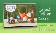 Sandy Allnock TGF Forest Critter Scene