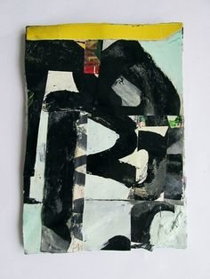 Title:UntitledYear:2014Medium:Household paints, gouache, and collage on canvas on boardSize:18 x 13 cm