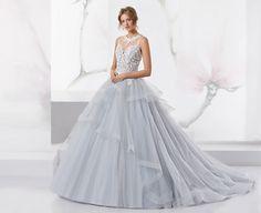 Wonderful light blue dress with glitter tulle.