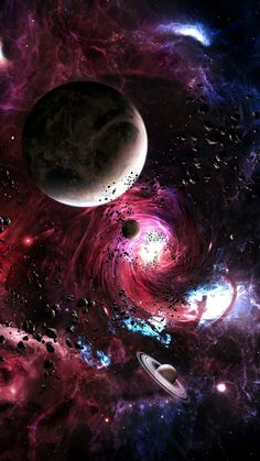 An artistic expression of space space art artwork beautiful artistic is part of Space backgrounds - Planets Wallpaper, Wallpaper Space, Galaxy Wallpaper, Nature Wallpaper, Iphone Wallpaper, Artistic Wallpaper, Nebula Wallpaper, Space Planets, Space And Astronomy