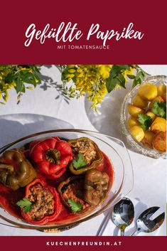 Foodblogger, Post, Curry, Winter, Ethnic Recipes, Green Bell Peppers, Meat, Stuffed Capsicum Vegetarian, Recipes With Chicken