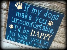 Dog Owner Sign Gift For Dog Lover Funny by SawdustAndSunshowers