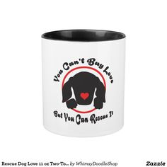 Rescue Dog Love 11 oz Two-Tone Mug