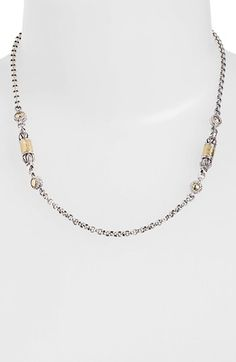 Konstantino 'Classics' Two-Tone Hammered Station Necklace available at #Nordstrom