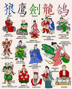 Dioses chinos diy arts and crafts ideas - Diy World Mythology, Chinese Mythology, Mythological Creatures, Mythical Creatures, Folk Religion, Art Asiatique, Legends And Myths, Mystique, World Religions