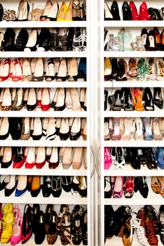 shoes, shoes, and more shoes.