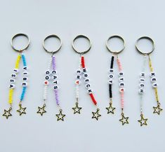 beaded keychains Excited to share this item from my shop: Personalized Double Trouble Keychain Collection Cute Jewelry, Diy Jewelry, Beaded Jewelry, Handmade Jewelry, Jewelry Making, Handmade Keychains, Handmade Bracelets, Diy Beaded Bracelets, Making Bracelets
