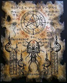THE ELDER SIGN cthulhu larp Necronomicon Fragment occult by Zaron