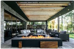 The most amazing luxury homes ever: brilliant architecture and brilliant interior design project Outdoor Rooms, Outdoor Living, Outdoor Decor, Outdoor Ideas, Exterior Design, Interior And Exterior, Outside Living, Future House, Interior Architecture
