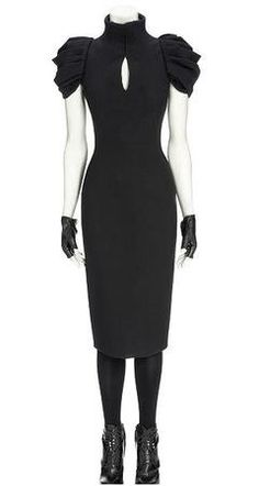 Alexander Mcqueen Black Victorian Tailored Dress. Those sleeves! The keyhole! The neck! The cut! I WANTS IT!