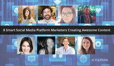 8 Smart Social Media Platform Marketers Creating Awesome Content #SocialMedia #FreelanceWriter http://www.toprankblog.com/2016/06/social-media-marketers/?utm_campaign=coschedule&utm_source=pinterest&utm_medium=Terry