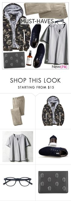 """Newchic"" by teoecar ❤ liked on Polyvore featuring Lucien Pellat-Finet, men's fashion and menswear"