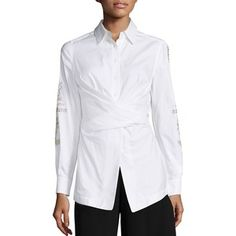 Yigal Azrouel Oxford Wrap Shirt