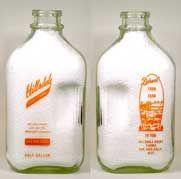 antique gallon glass milk bottles