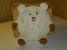 Southern Gal's Crochet has a link to the free pattern for this Cute Bear Pillow (and it's also for a Cat & Pig)!
